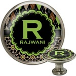 Argyle & Moroccan Mosaic Cabinet Knob (Silver) (Personalized)