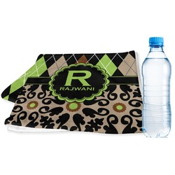 Argyle & Moroccan Mosaic Sports & Fitness Towel (Personalized)