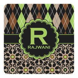 Argyle & Moroccan Mosaic Square Decal - Custom Size (Personalized)