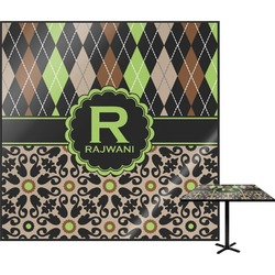 Argyle & Moroccan Mosaic Square Table Top (Personalized)