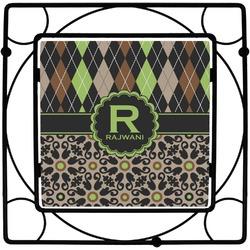 Argyle & Moroccan Mosaic Square Trivet (Personalized)
