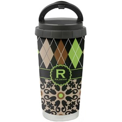 Argyle & Moroccan Mosaic Stainless Steel Coffee Tumbler (Personalized)