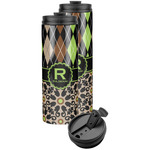 Argyle & Moroccan Mosaic Stainless Steel Skinny Tumbler (Personalized)