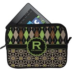 Argyle & Moroccan Mosaic Tablet Case / Sleeve (Personalized)