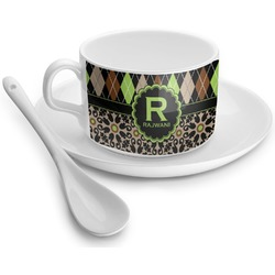 Argyle & Moroccan Mosaic Tea Cup - Single (Personalized)