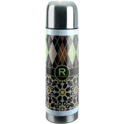 Argyle & Moroccan Mosaic Stainless Steel Thermos (Personalized)