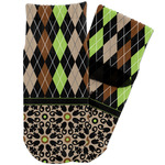 Argyle & Moroccan Mosaic Toddler Ankle Socks (Personalized)