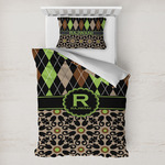 Argyle & Moroccan Mosaic Toddler Bedding w/ Name and Initial
