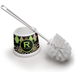 Argyle & Moroccan Mosaic Toilet Brush (Personalized)