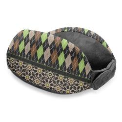 Argyle & Moroccan Mosaic Travel Neck Pillow
