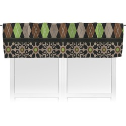 Argyle & Moroccan Mosaic Valance (Personalized)