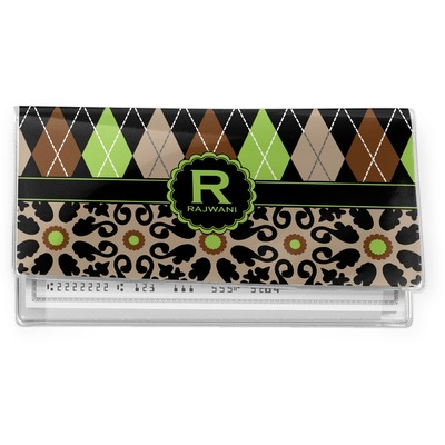 Argyle & Moroccan Mosaic Vinyl Checkbook Cover (Personalized)