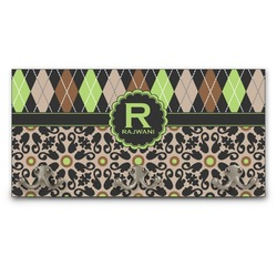 Argyle & Moroccan Mosaic Wall Mounted Coat Rack (Personalized)