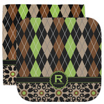 Argyle & Moroccan Mosaic Facecloth / Wash Cloth (Personalized)