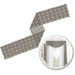Argyle & Moroccan Mosaic Window Sheer Scarf Valance (Personalized)