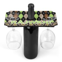 Argyle & Moroccan Mosaic Wine Bottle & Glass Holder (Personalized)