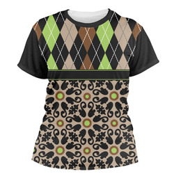 Argyle & Moroccan Mosaic Women's Crew T-Shirt (Personalized)