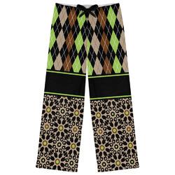 Argyle & Moroccan Mosaic Womens Pajama Pants (Personalized)