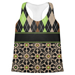 Argyle & Moroccan Mosaic Womens Racerback Tank Top (Personalized)