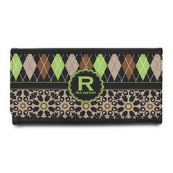 Argyle & Moroccan Mosaic Leatherette Ladies Wallet (Personalized)
