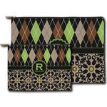 Argyle & Moroccan Mosaic Zipper Pouch (Personalized)