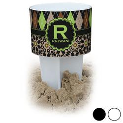 Argyle & Moroccan Mosaic Beach Spiker Drink Holder (Personalized)