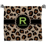 Granite Leopard Full Print Bath Towel (Personalized)