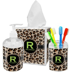 Granite Leopard Bathroom Accessories Set (Personalized)