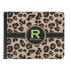 Granite Leopard Genuine Leather Men's Bi-fold Wallet (Personalized)