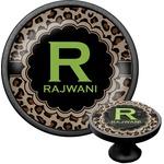 Granite Leopard Cabinet Knob (Black) (Personalized)