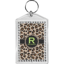 Granite Leopard Bling Keychain (Personalized)