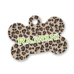 Granite Leopard Bone Shaped Dog Tag (Personalized)