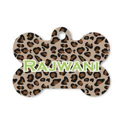 Granite Leopard Bone Shaped Dog ID Tag (Personalized)