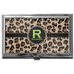 Granite Leopard Business Card Case