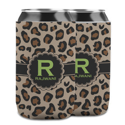 Granite Leopard Can Cooler (12 oz) w/ Name and Initial