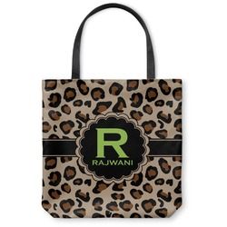 "Granite Leopard Canvas Tote Bag - Small - 13""x13"" (Personalized)"