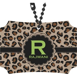 Granite Leopard Rear View Mirror Ornament (Personalized)