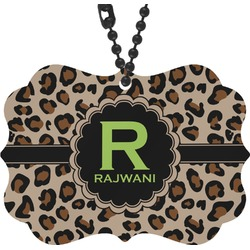Granite Leopard Rear View Mirror Decor (Personalized)