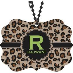 Granite Leopard Rear View Mirror Decor (Personalized)