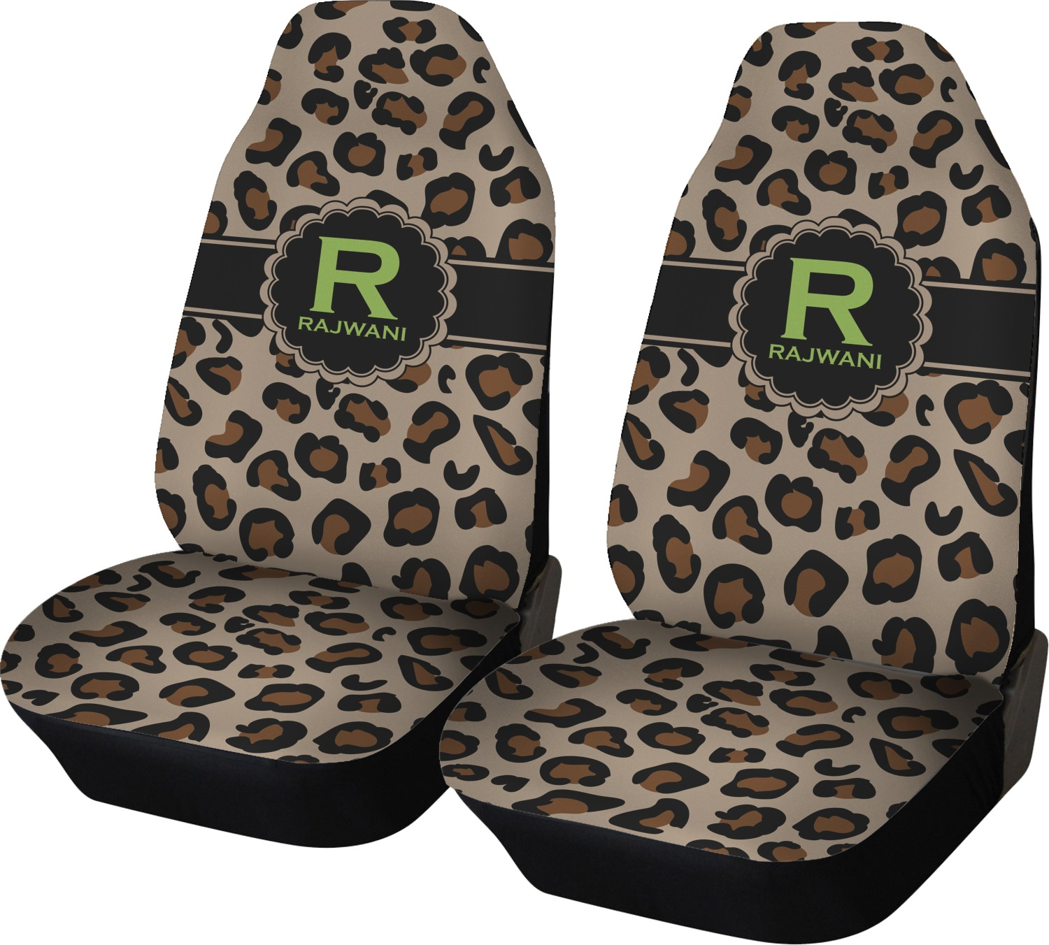 Granite Leopard Car Seat Covers Set Of Two Personalized