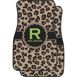 Granite Leopard Car Floor Mats (Front Seat) (Personalized)