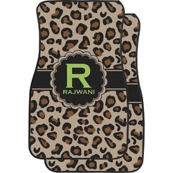 Granite Leopard Car Floor Mats (Front Seat) (Personalized)