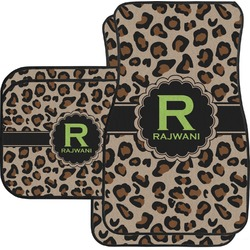 Granite Leopard Car Floor Mats Set - 2 Front & 2 Back (Personalized)