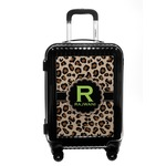 Granite Leopard Carry On Hard Shell Suitcase (Personalized)