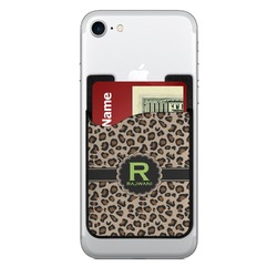 Granite Leopard Cell Phone Credit Card Holder (Personalized)