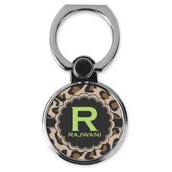 Granite Leopard Cell Phone Ring Stand & Holder (Personalized)