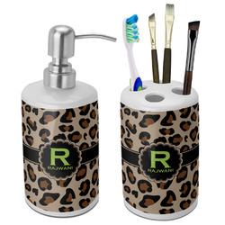 Granite Leopard Ceramic Bathroom Accessories Set (Personalized)