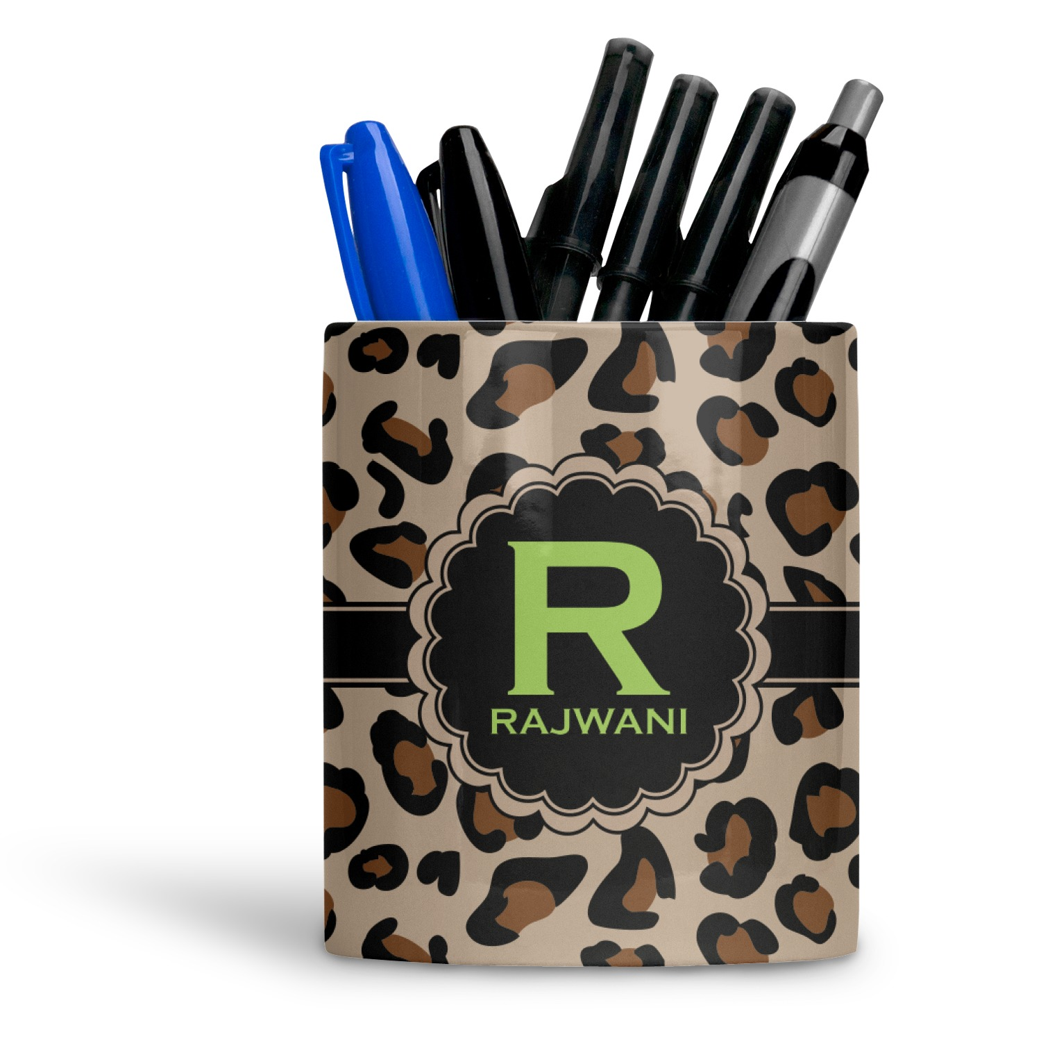 Granite Leopard Ceramic Pen Holder