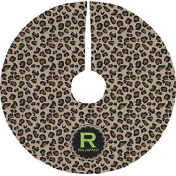 Granite Leopard Tree Skirt (Personalized)