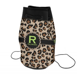 Granite Leopard Neoprene Drawstring Backpack (Personalized)
